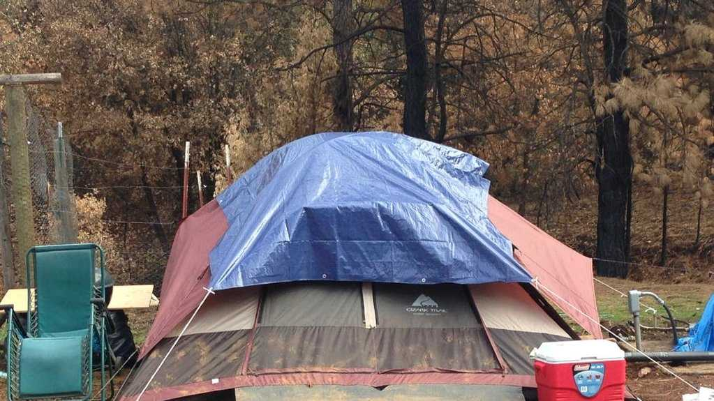 Many Butte Fire victims are living in tents after their homes were destroyed in the wildfire. People are concerned about the living conditions, especially as the weather  gets colder.