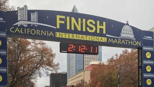 Elisha Barno of Kenya won the 2015 California International Marathon.