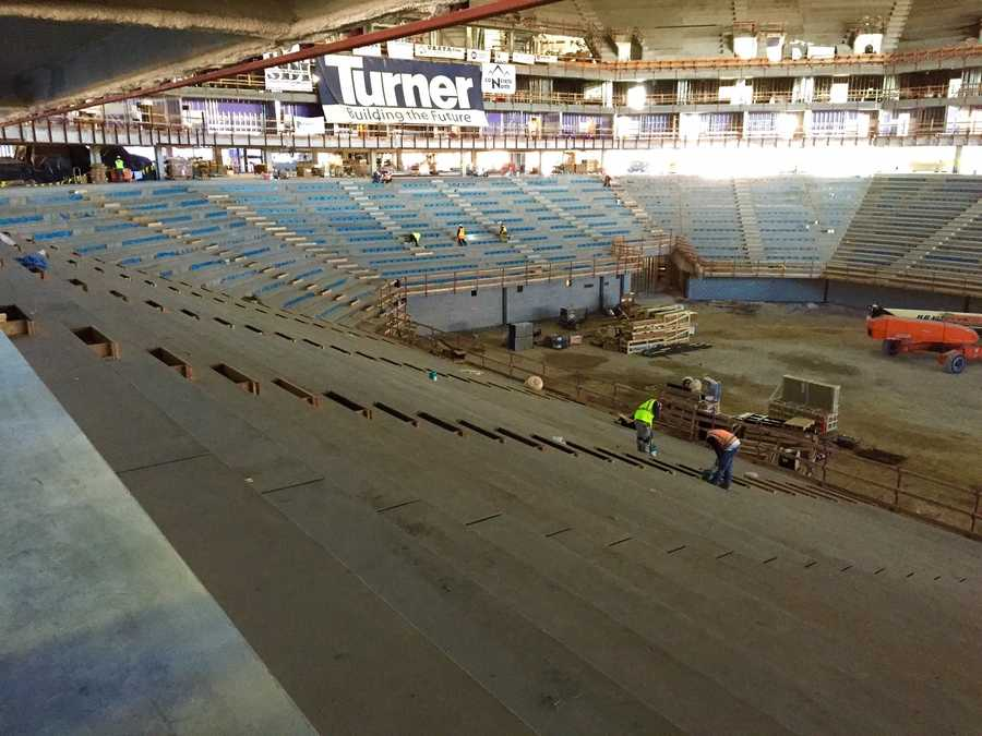 The foundation for the seats of the Golden 1 Center have already been laid around the center of the arena.