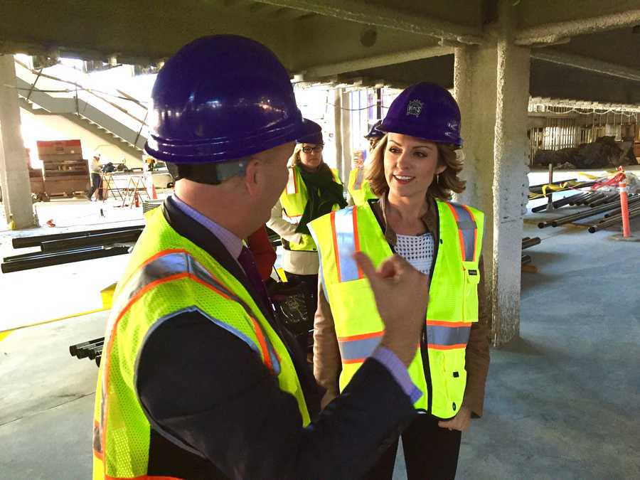 KCRA's Kellie DeMarco spoke exclusively with Sacramento Kings Vice President Chris Granger on the progress of the Golden 1 Center and the future of Sleep Train Arena.