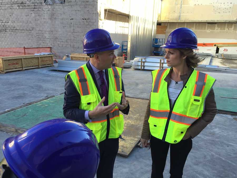 Granger took Kellie on a tour around the arena construction site, offering insight into the state-of-the-art facility.