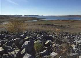 The story of Folsom Lake's dropping water-levels was a constant story during the state's ongoing drought. By mid-November, when this photo was taken, the lake was nearing historic-low water levels caused by a lack of rain and Sierra snowpack.