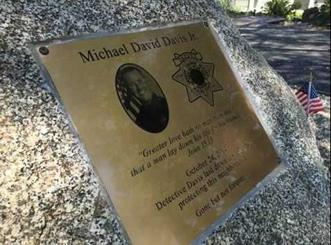 In May, a plaque was dedicated for Placer County sheriff's Detective Michael David Davis Jr., who was killed in Oct. 2014 during a crime spree and manhunt that also left Sacramento County sheriff's deputy Danny Oliver dead.