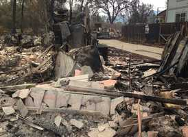 Many pictures similar to this were seen through the trail of destruction left behind by the massive Valley Fire.