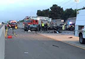 A string of crashes at the beginning of the year involving drivers going the wrong way on Sacramento-area highways left at least 14 people dead. This crash on April 22 along Highway 50 in Sacramento, involving three vehicles, killed four people and shut down the highway for a few hours during the morning commute.