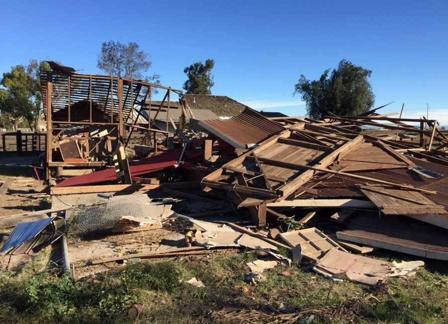 An EF-1 tornado touched down Nov. 15 in the Stanislaus County city of Denair, damaging about 21 homes and nearly 200 trees in a nearby orchard, according to the Stanislaus County Sheriff's Department. The damage was estimated to be about $488,000.