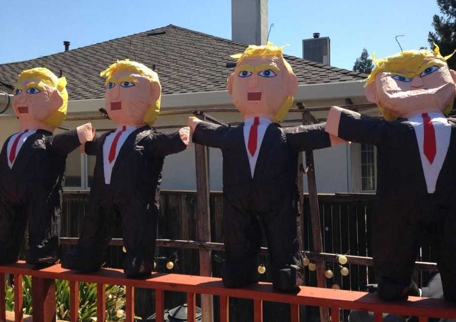 Following Donald Trump's controversial comments on illegal immigrants, piñatas of the GOP presidential candidate became a big hit in Mexico and soon made their way up to Sacramento in July.