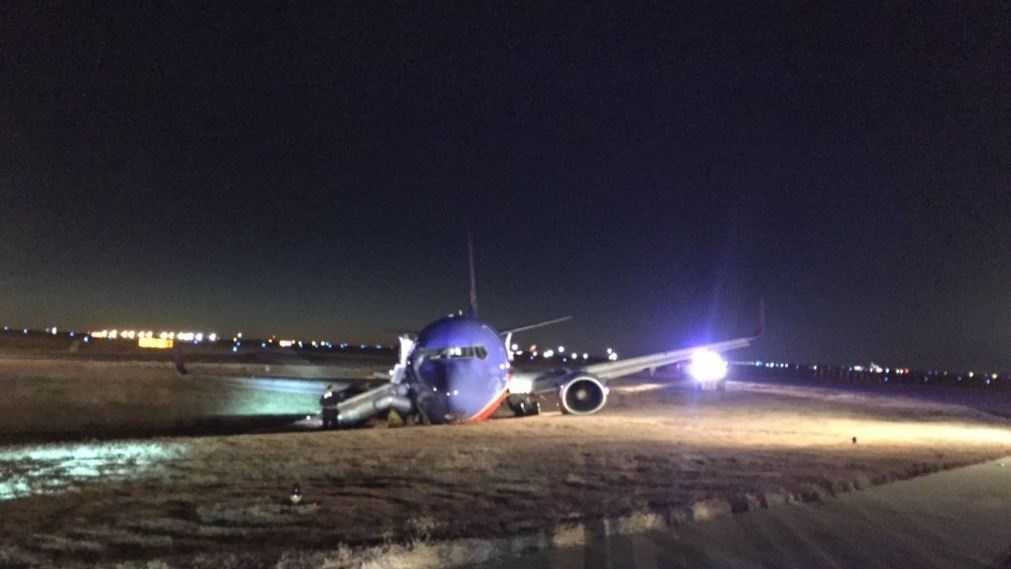 A Southwest Airlines plane crash landed in Nashville on Tuesday, Dec. 15, 2015. Twitter user Ahmad AZ (@zadamha) was a passenger on the plane and tweeted this photo.