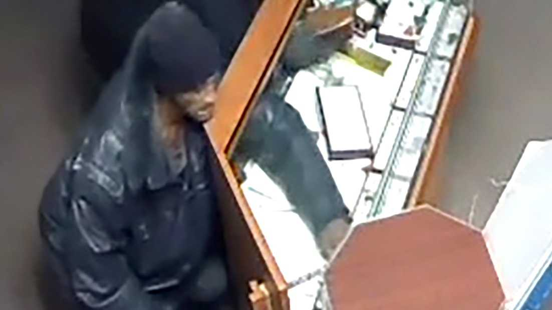 Surveillance video shows a suspect wanted in connection to a jewelry heist on Friday, Dec. 11, 2015, the Sacramento Police Department said.