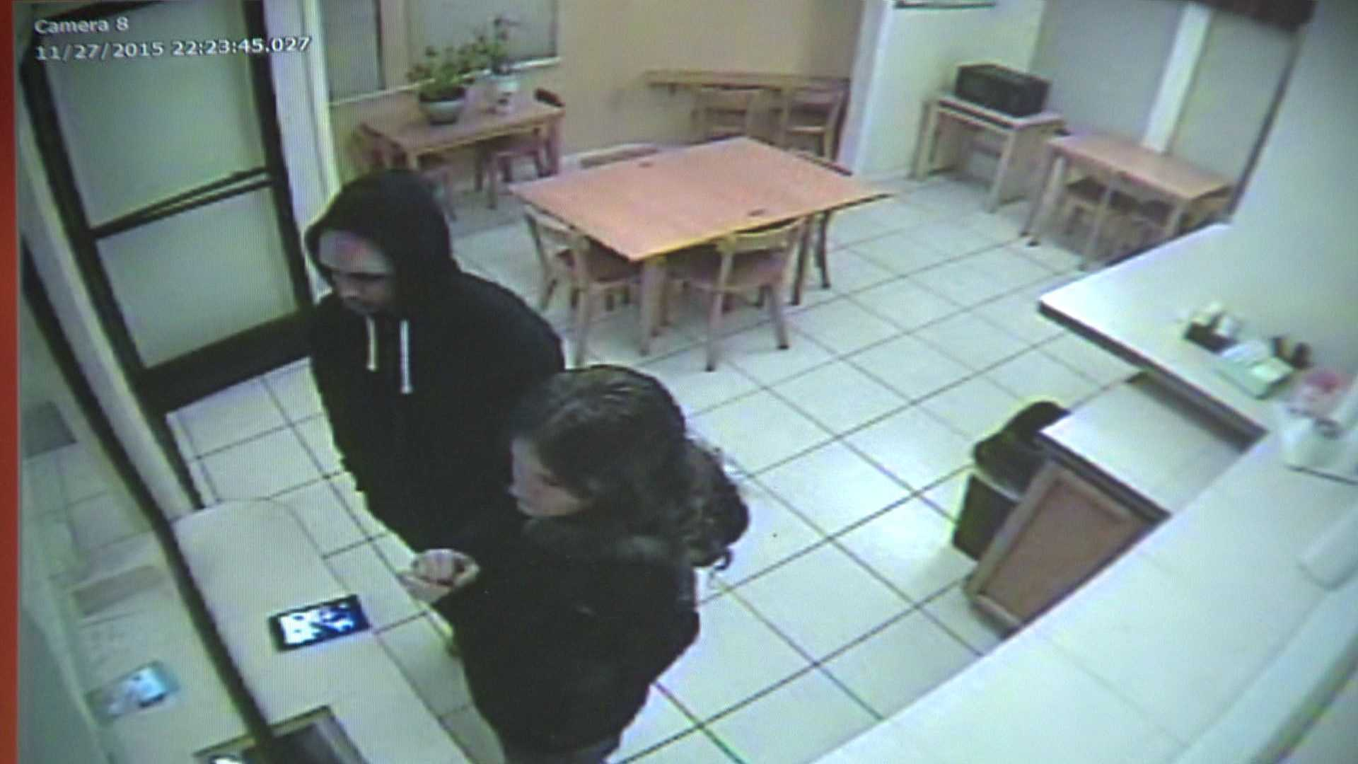 Surveillance video from Motel 6 in Dunnigan shows Gonzalo Curiel and Tami Huntman checking in on Nov. 27.