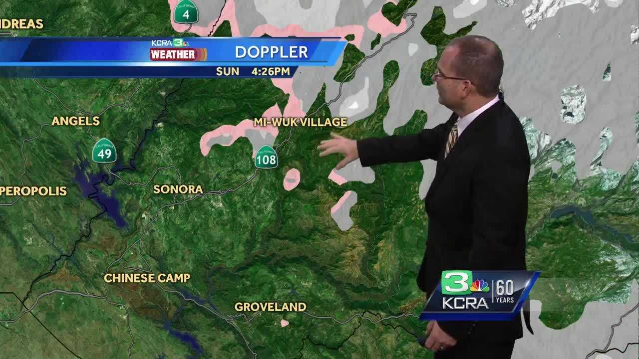 KCRA 3 Weather meteorologist Dirk Verdoorn tracks the coming rain.