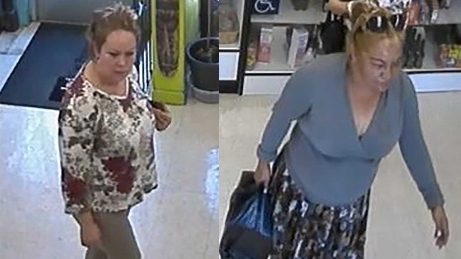 The Sacramento Police Department is looking for two women in connection to the June thefts of personal items and credit cards from employees at two Sacramento businesses.