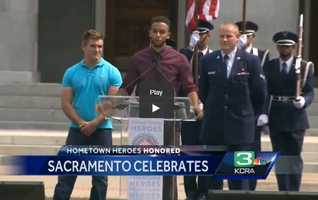 A story that captured the attention of people across the world was when three Sacramento men stopped a suspected terrorist in July on board a Paris-bound train. On Sept. 11, Sacramento honored Alek Skarlatos, Anthony Sadler and Spencer Stone with a parade in downtown Sacramento to the state Capitol.