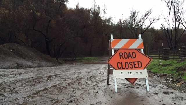 Flooding has closed Hawver Road near Mokelumne Hill.