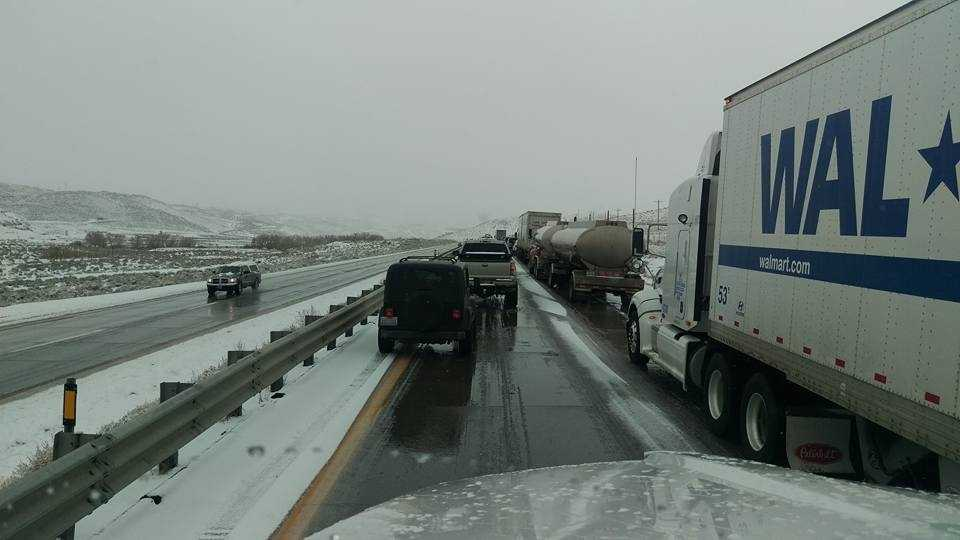 A series of crashes caused a closure of Interstate 80 near Reno, Nevada. (Dec. 24, 2015)