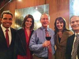 Sharing this photo from Kellie's #kcra #facebook page: From left, it's Gulstan Dart, Kellie DeMarco, Tom DuHain, Edie Lambert and Mark Finan. Looks like a great time at a farewell event for Tom tonight! We toast to his 46-year career at #KCRA and wish him nothing but the best in retirement. Tom is a true professional, dependable, classy, smart and caring man, as Kellie wrote. We'll miss him! #sacramento #norcal #tvnews #tomduhain #sac #reporter
