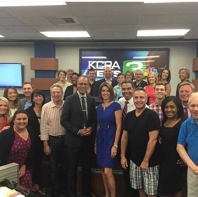 We loved having Lester Holt of @nbcnews visit the KCRA newsroom this morning! #nbc #nightlynews #newsman #sacramentoproud #kcrais60 #sacstatealum #hangingwithlester