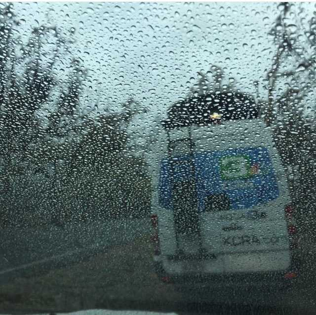Could it be? Rain in #NorCal? Woohoo! It was especially a welcomed sight at the #ValleyFire, where #KCRA's Brian Hickey snapped this photo. Did you see rain today? #kcrawx #lakecounty #cawildfires #KCRA3 #reporterlife #rain #raindrops