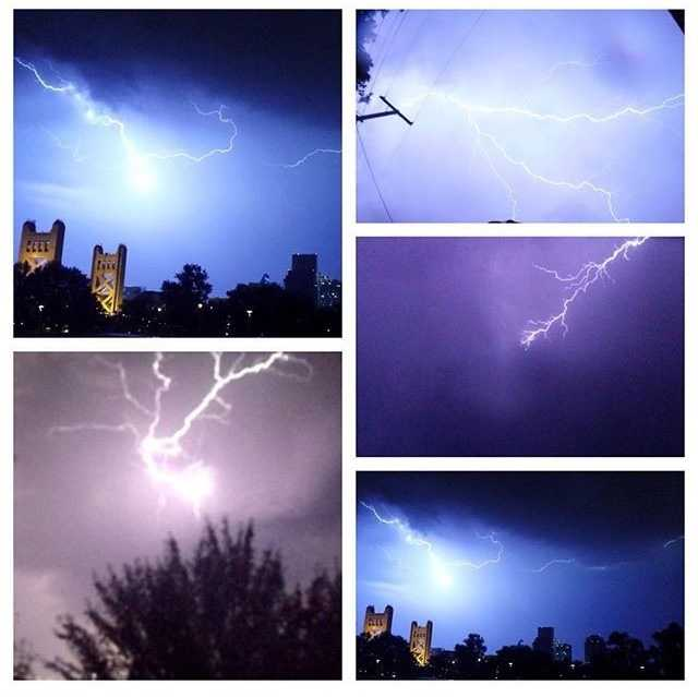 We had quite a lightning show in #NorCal last night, and you guys sent in some cool shots to #ulocal! Here are just a few of the #awesome pictures. Did you see the #lightning where you were? // #lightningshow #Sacramento #elkgrove #kcrawx #flashoflight #stormclouds #kcra #kcra3 #towerbridge