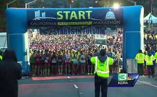 About 9,000 people ran the full 26.2-mile course today in the 33rd annual #CaliforniaInternationalMarathon. Runners followed the race course from #Folsom to the state #Capitol in #Sacramento. #Congratulations to everyone who participated! // #cim #cim2015 #downtownSacramento #running #marathon #run #race #runners