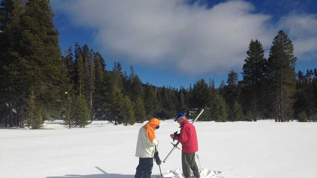 The Department of Water Resources conducted a snow survey Dec. 30, 2015 at Phillips Station.