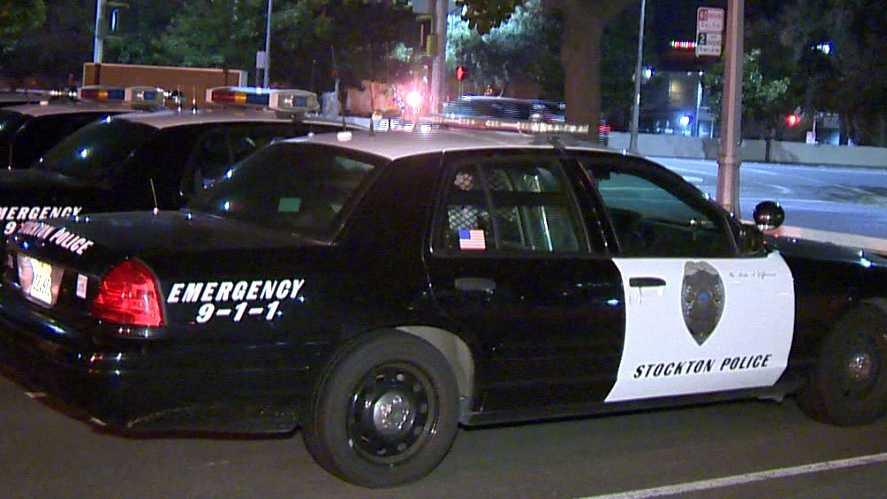 Stockton police patrol cars
