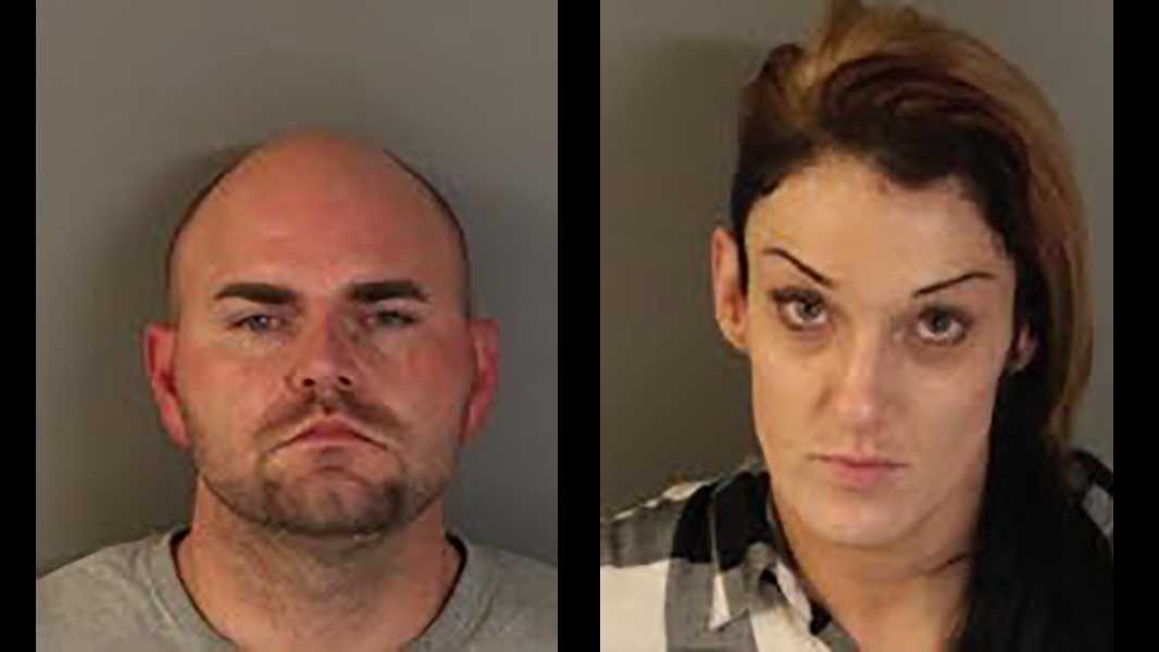 Michael Allard Parfitt, 31, of Sacramento and Danielle Barba, 38, of Citrus Heights, were arrested on suspicion of petty theft and possessing stolen property, the Roseville Police Department said.
