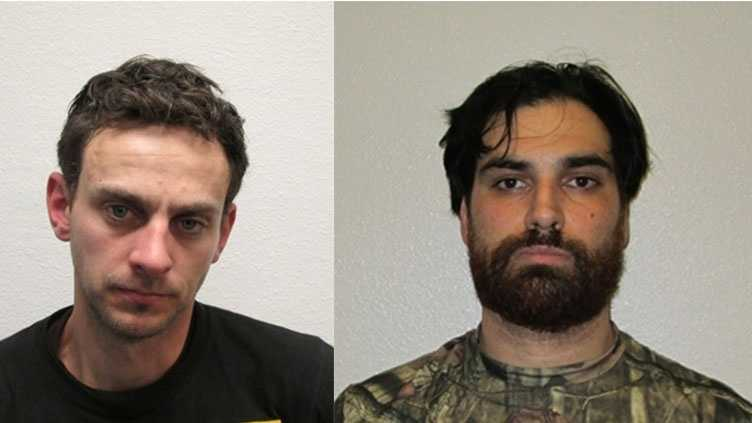 Officers arrested Ryan Perdue, 30, of Roseville (left) and Nicolai Rodney, 29, of Antelope (right) on charges of buglary and conspiracy to commit a crime, police said.