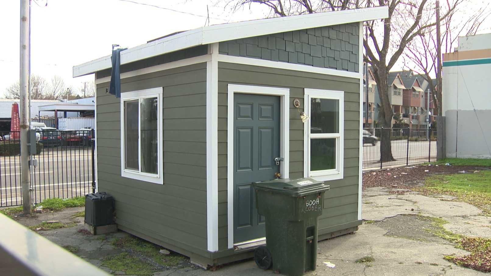 A cabin like this one could help Sacramento's homeless population until they can find a more permanent housing solution.