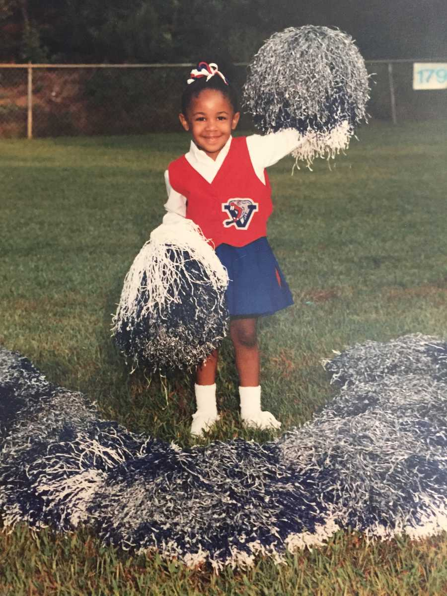 "2.) I've cheered and danced my entire life! Nowadays, I do Zumba and pole fitness to stay in shape. In college, I was co-captain for the Essence dance line (think of the movie ""Drumline"")."