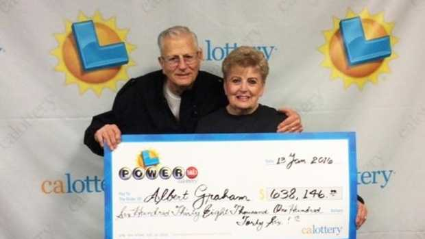 Albert Graham and his wife Carol, both from Carmichael, won $638,000 after matching five of the six Powerball numbers.