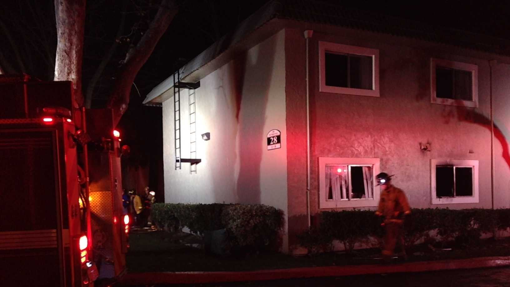 Three people were injured and two pets died in an apartment fire in Sacramento, officials said.