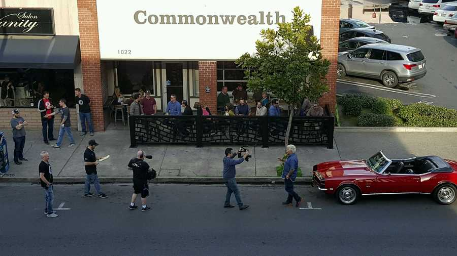Fieri also visited the Commonwealth Craft Pub on 11th Street in Modesto.