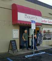 Fieri was spotted Wednesday visiting Bauer's 66 1/2 Skillet and Grill in the McHenry Shopping Center in Modesto.