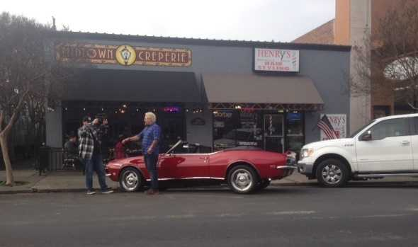 Fieri and his classic car made the short drive up to Stockton on Thursday and visited the Miracle Mile
