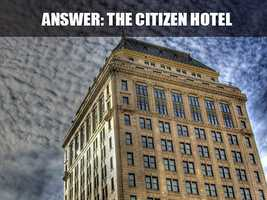 This is the Citizens Hotel, which is located on 926 J Street. The exterior of the building is an early 1900's classic design by architect George Sellon, California's first state architect. (Source: http://www.visitsacramento.com/)