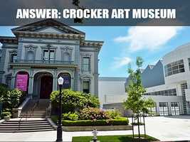 This is the Crocker Art Museum, located on 216 O Street. The 125,000 square-foot Teel Family Pavillion opened on October 10, 2010. (Source: https://www.crockerartmuseum.org/)
