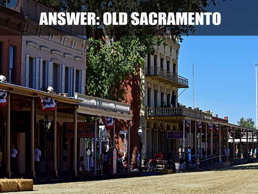 "This is a street in Old Sacramento. Established in 1849, ""the unique 28-acre National Historic Landmark District and State Historic Park is located along the beautiful Sacramento River,"" according to the website. (Source: http://oldsacramento.com/)"