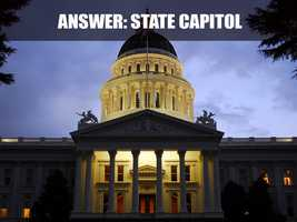 This is the California State Capitol Building, which is located on 1315 10th Street. The Capitol building serves as both a museum and the state's working seat of government, according to the website. (Source: http://capitolmuseum.ca.gov/)