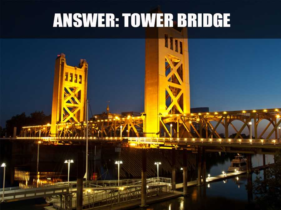 This is the Tower Bridge, located over the Sacramento River. The bridge was dedicated in 1935 and connects Sacramento and West Sacramento. (Source: http://www.cityofsacramento.org/)