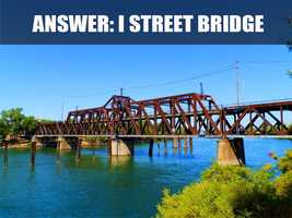 This is the I Street Bridge, located over the Sacramento River. It is over 100 years old and connects Sacramento with West Sacramento. (Source: http://portal.cityofsacramento.org/)