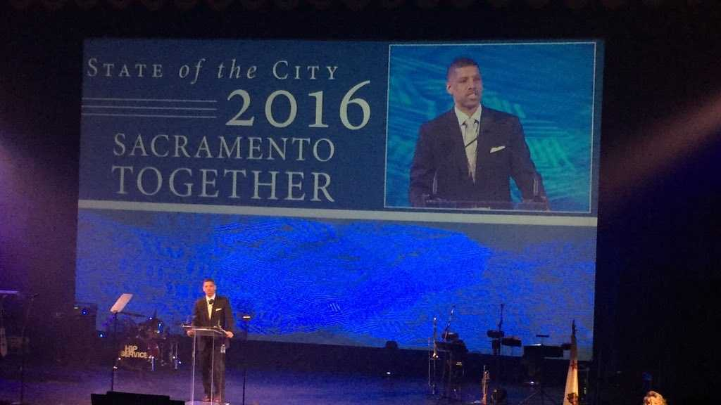 Mayor Kevin Johnson in his last State of the city address on Thursday. (Jan. 28, 2016)