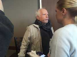 Actor Richard Dreyfuss was listening to the candidates in Iowa during the caucuses.