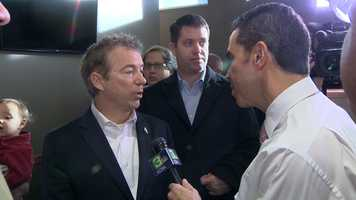 Rand Paul also held an event in Iowa before people went to caucus for the candidate they feel is best suited for the presidency. (Feb. 1, 2016)