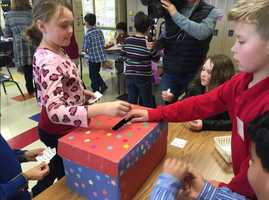 Children at one Iowa school participated in their own caucus -- selecting their favorite cookie. Students dropped votes into a box after choosing between chocolate chip, M&M, sugar and Lorna Doone cookies. However, this only happened once a representative for each cookie made an appeal for votes. (Feb. 1, 2016)