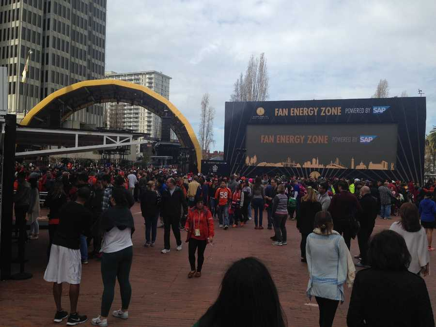 Thousands of people packed Super Bowl City on Saturday to join in on the fun and excitement ahead of Sunday's big game between the Denver Broncos and the Carolina Panthers.
