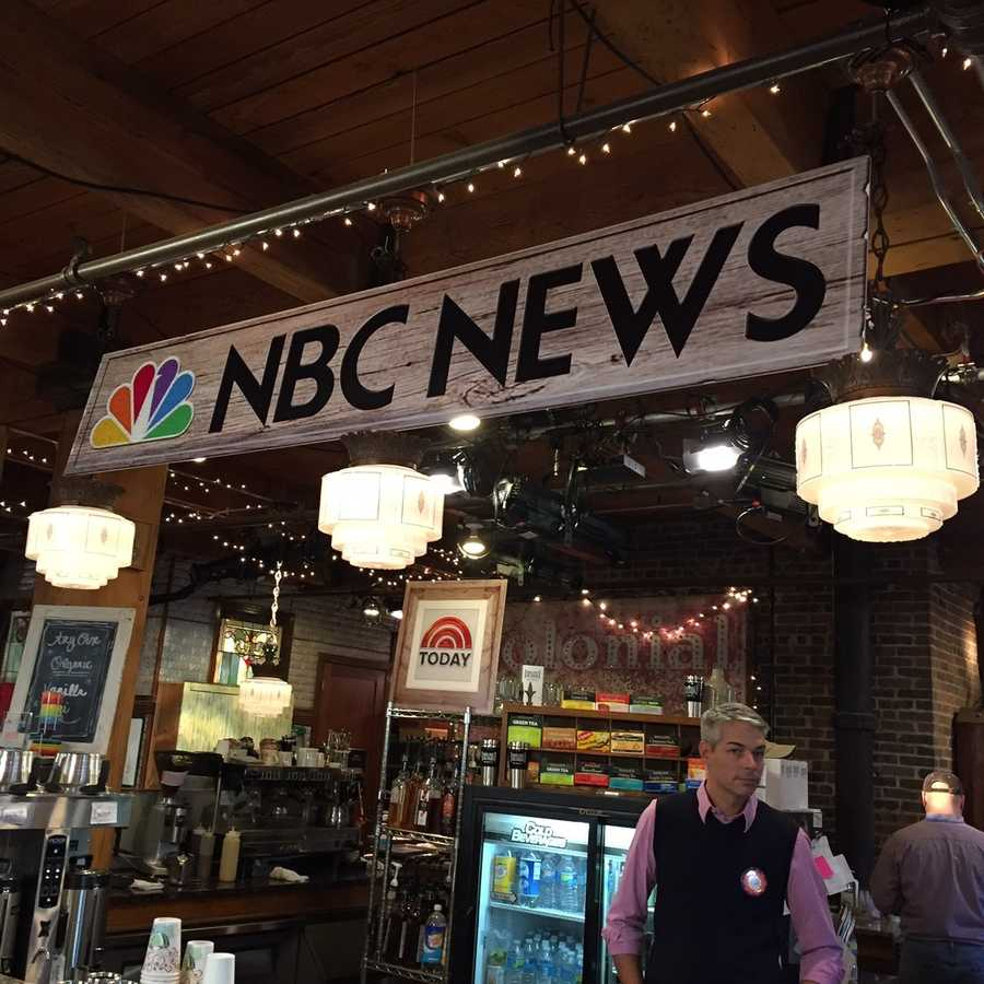 "A KCRA crew visited the NBC News ""headquarters"" in Iowa during caucus coverage on Monday, Feb. 1, 2016."