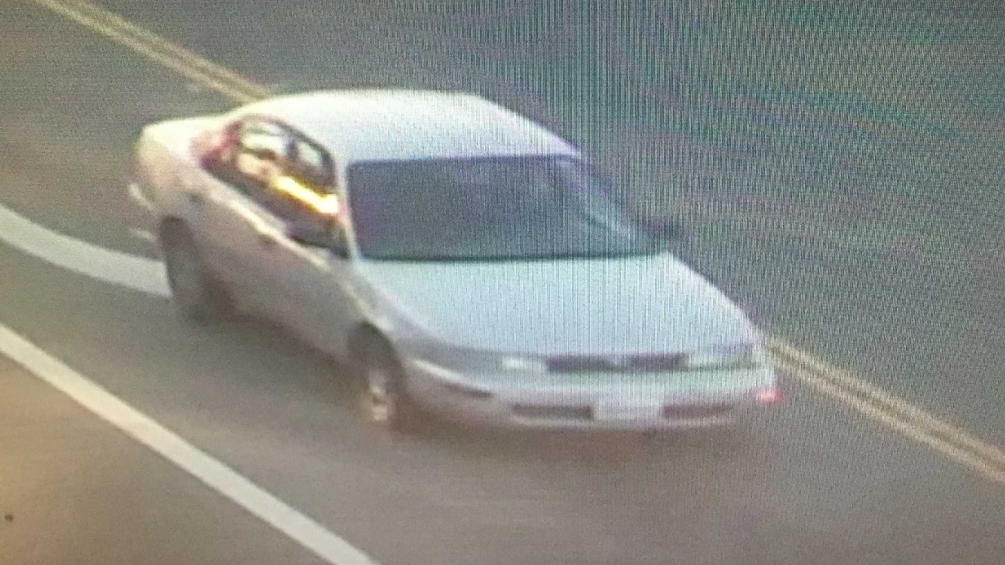 Officers are searching for a brown or gold-colored four door sedan, the Fairfield Police Department said.