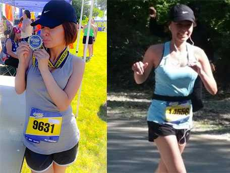 My favorites are the Biggest Loser Half Marathons, which I participated in while I was in Erie, Pa.