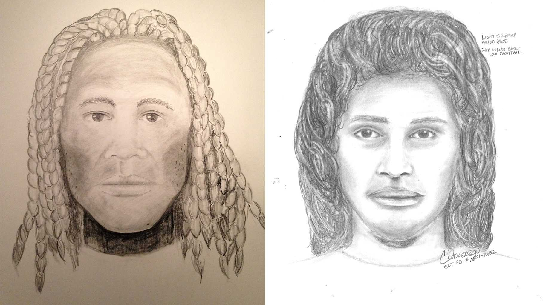 South Lake Tahoe police are searching for suspect number one (left) and suspect number two (right) in connection with the murder of an Amador County man Saturday evening.